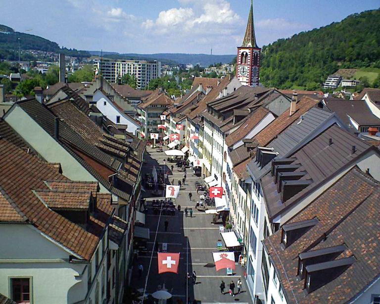 Liestall Luftaufnahme von movepics.ch